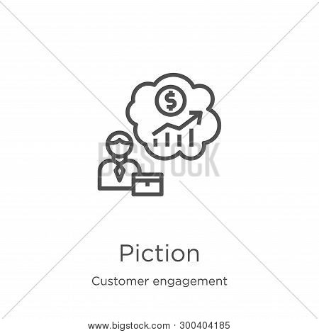 Prediction Icon Isolated On White Background From Customer Engagement Collection. Prediction Icon Tr