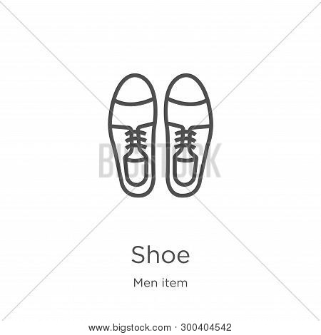 Shoe Icon Isolated On White Background From Men Item Collection. Shoe Icon Trendy And Modern Shoe Sy
