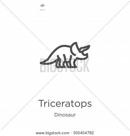 Triceratops Icon Isolated On White Background From Dinosaur Collection. Triceratops Icon Trendy And