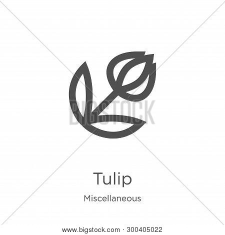 Tulip Icon Isolated On White Background From Miscellaneous Collection. Tulip Icon Trendy And Modern