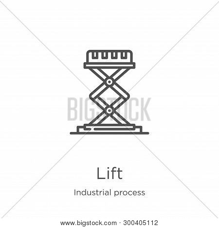 Lift Icon Isolated On White Background From Industrial Process Collection. Lift Icon Trendy And Mode