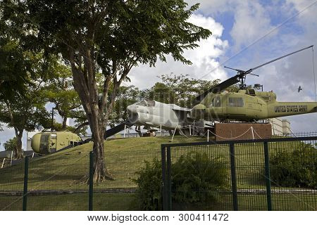Bayamon/puerto Rico - February 26, 2019: Damage To Aircraft Inside Luis A. Ferre Science Park After