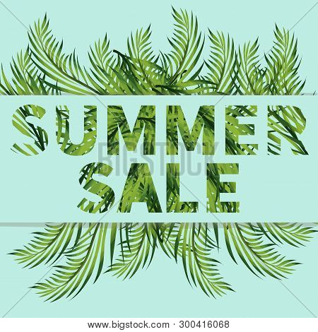 Summer Clearance Sale Web Template.discount Banner With Copyspace.