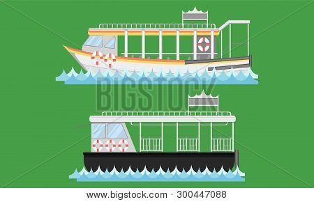 Express Boat Ship Boat Vesselcraft Barge Ark River Water Lifebuoy Barge Float Raft Punt Pram Pontoon