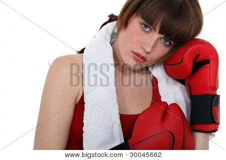 A female boxer