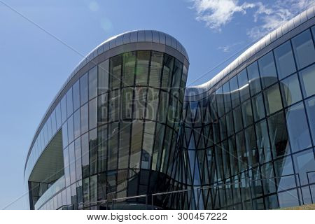 Krakow,poland - 31 July, 2017: The Entrance Section Of The Krakow Congress Centre (international Con