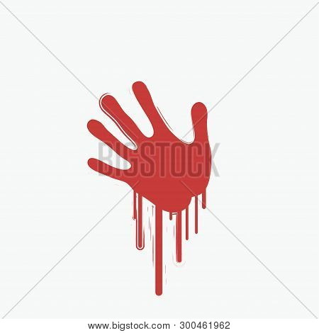 Bloody Handprint - Vector & Photo (Free Trial) | Bigstock