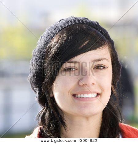 Happy Teen With Cap