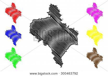 Ivano-frankivsk Oblast (administrative Divisions Of Ukraine, Oblasts Of Ukraine) Map Vector Illustra