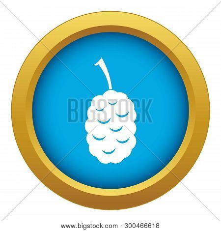 Fruit Of Mulberry Icon Blue Vector Isolated On White Background For Any Design