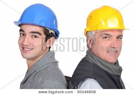 portrait of two laborers