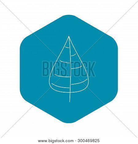 Poplar Tree Leaf Icon. Outline Illustration Of Poplar Tree Leaf Vector Icon For Web
