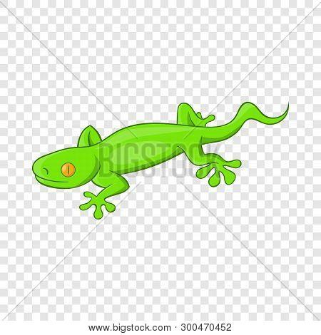 Green Gecko Lizard Icon. Cartoon Illustration Of Gecko Lizard Vector Icon For Web Design