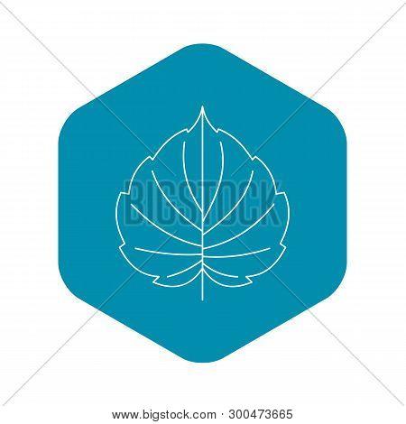 Hazel Leaf Icon. Outline Illustration Of Hazel Leaf Vector Icon For Web