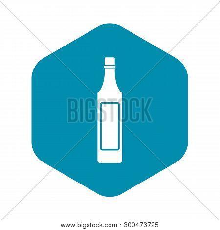 Vinegar Bottle Icon. Simple Illustration Of Vinegar Bottle Vector Icon For Web