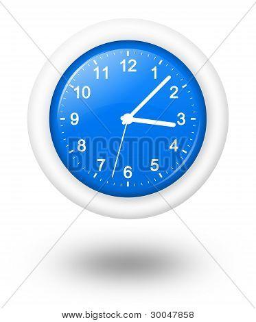 Analog Blue Clock Illustration
