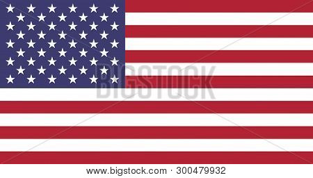 Flag Of Usa - United States Of America - Vector Illustration