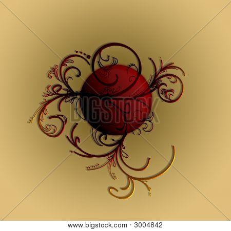 Classic Ornament Red