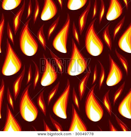 red flame seamless background