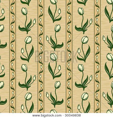tulip line seamless background pattern