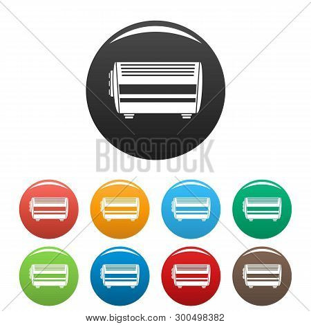 Home Convector Icons Set 9 Color Vector Isolated On White For Any Design