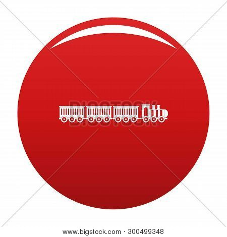 Sedentary Train Icon. Simple Illustration Of Sedentary Train Vector Icon For Any Design Red