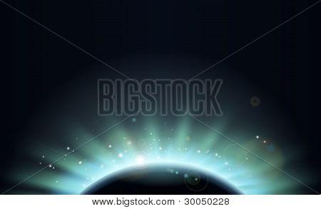 Eclipse Sun Planet Background Illustration