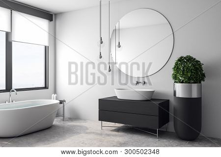 Luxury White Bathroom Interior
