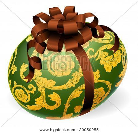 Luxury Ornate Easter Egg With Bow