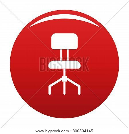 Hard Chair Icon. Simple Illustration Of Hard Chair Vector Icon For Any Design Red