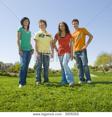 Group Of Teens