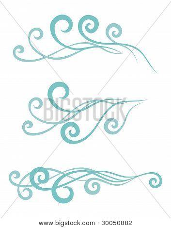 Waves.vector Illustration.