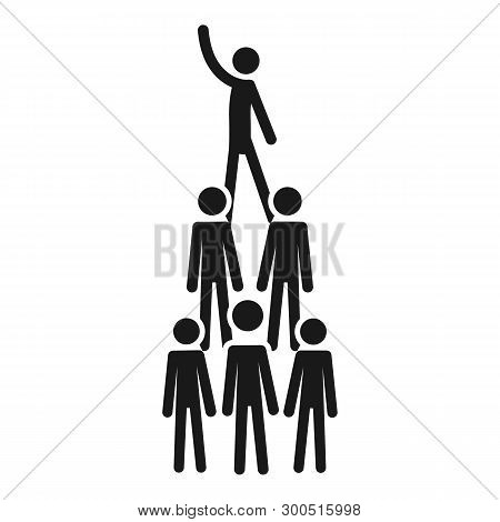 People cohesion pyramid icon. Simple illustration of people cohesion pyramid vector icon for web design isolated on white background poster