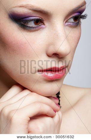 Close-up Of Beautiful Girl