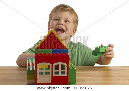 Boy Is Building A House