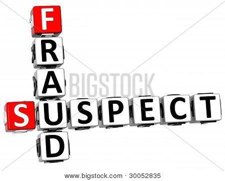 3D Suspect Fraud Crossword