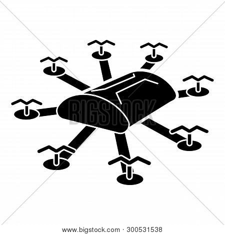 poster of Multi copter drone icon. Simple illustration of multi copter drone vector icon for web design isolated on white background