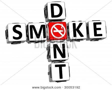 3D Dont Smoke Crossword