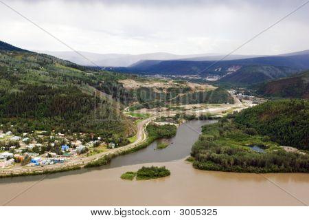 Dawson city on the merge of Klondike river and Yukon river poster