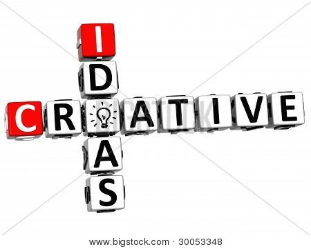 3D Creative Idea Crossword
