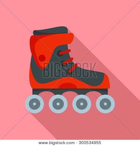 Freestyle Inline Skates Icon. Flat Illustration Of Freestyle Inline Skates Icon For Web Design