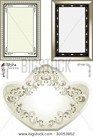 Classic frame with vintage ornaments.Frame.Banner.