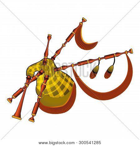 Scotland Bagpipes Icon. Cartoon Of Scotland Bagpipes Icon For Web Design Isolated On White Backgroun
