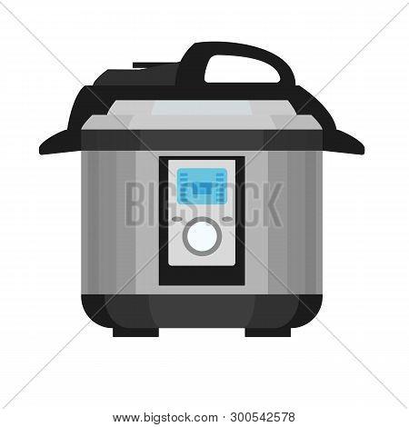 Pressure Cooker Icon. Flat Illustration Of Pressure Cooker Icon For Web Design