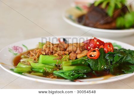Stir Fried Chinese Kale With Oyster Sauce