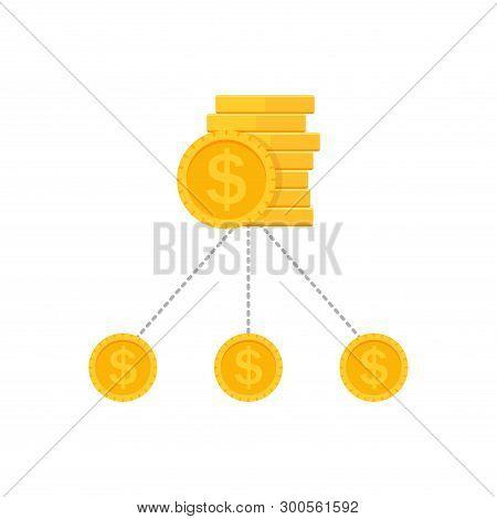 Money Diversification Revenue, Budget Split, Financial Diversification Portfolio. Bill Money Structu