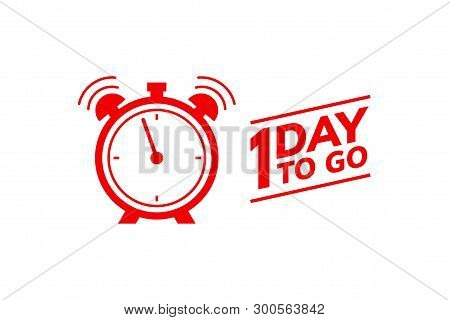 1 Day To Go Last Countdown Icon. One Day Go Sale Price Offer Promo Deal Timer, 1 Day Only