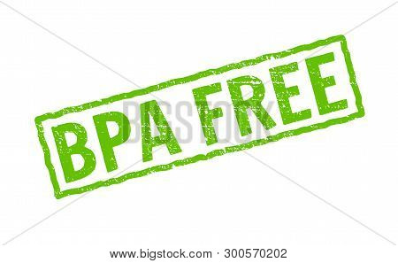 Bpa Free Vector Icon. Plastic Free Logo Stamp Toxic Chemical Bpa Element Eco Safe Icon