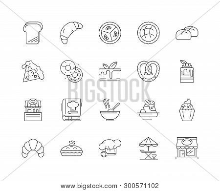 Cookery Line Icons, Signs, Vector Set, Outline Illustration Concept