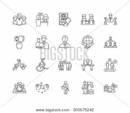 Errand Service Line Icons, Signs, Vector Set, Outline Illustration Concept